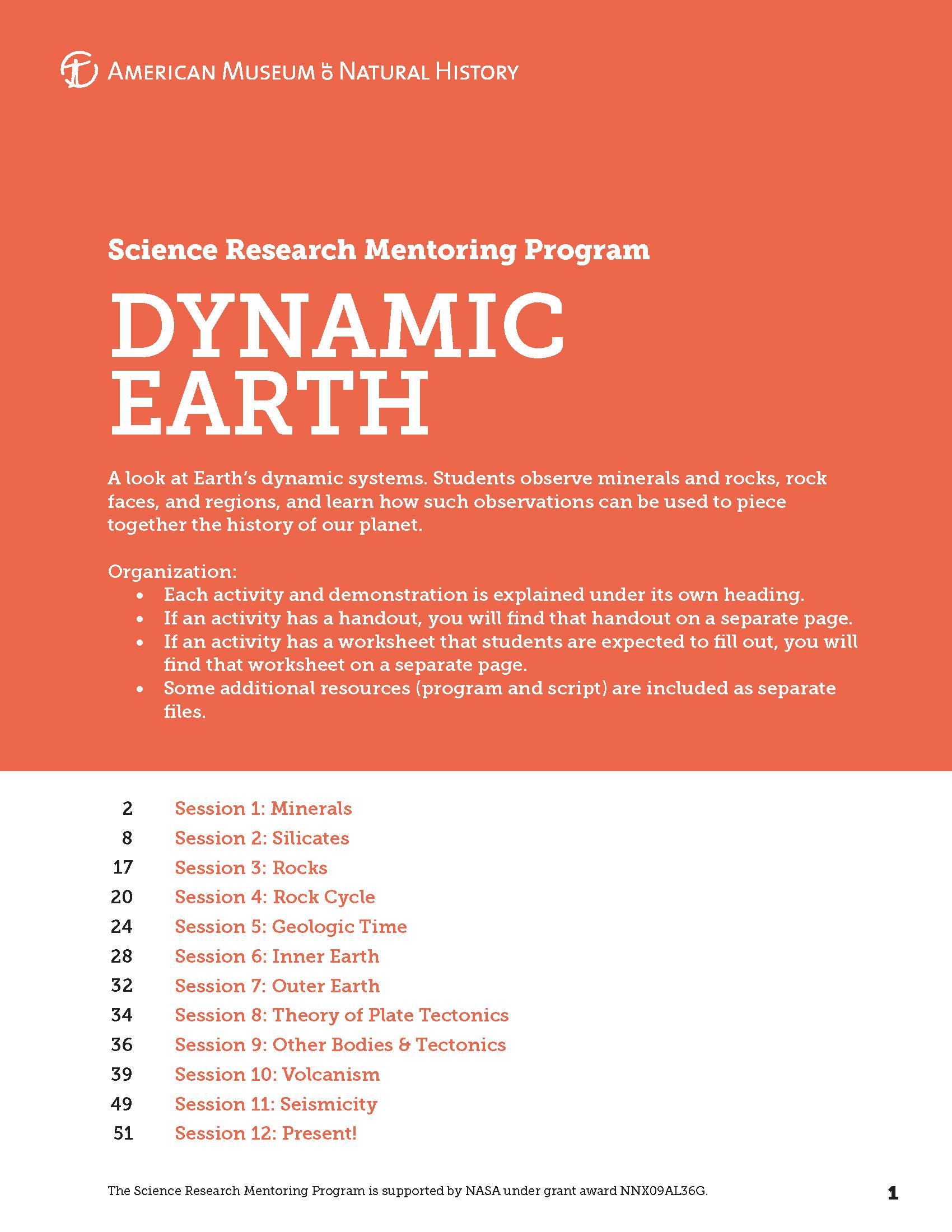 Dynamic Earth Curriculum Museum Alliance