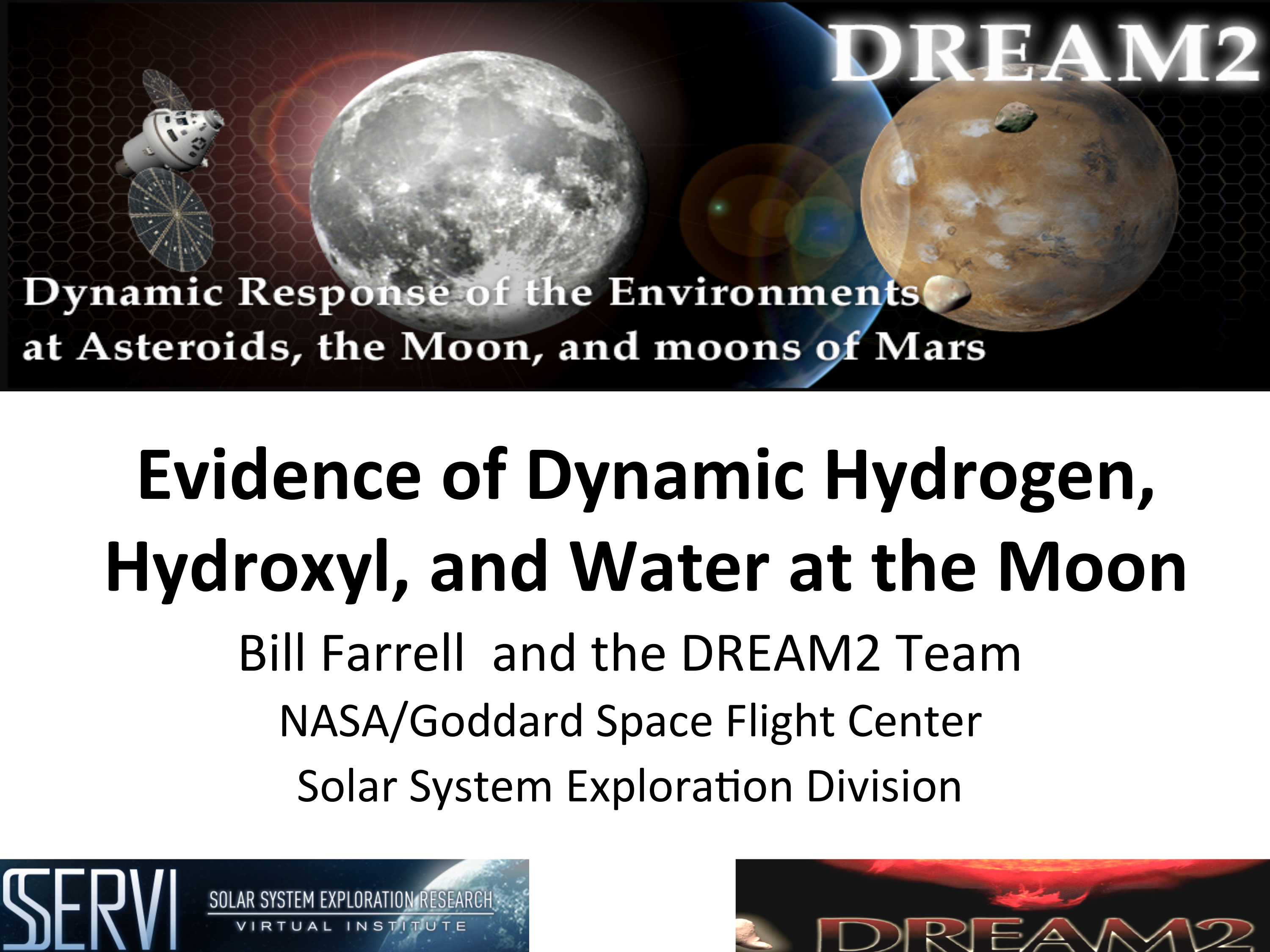 NASA's DREAM2 - Evidence of dynamic hydrogen, hydroxyl, and Water at the Moon