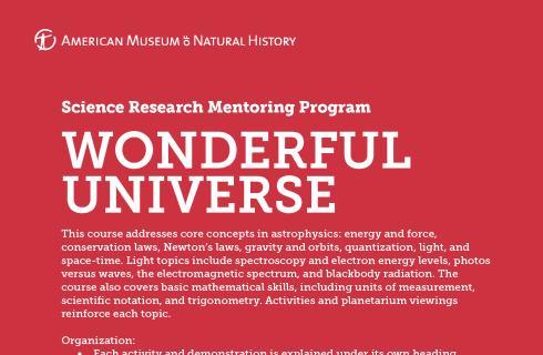 SRMP Wonderful Universe first page