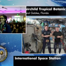 Screenshot of students, astronauts in conversation