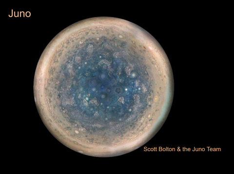 Jupiter South Pole - title Slide