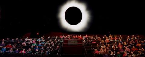 Big Eclipse at Soref Planetarium in Milwaukee