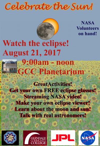 Watch the eclipse at the GCC Planetariun on August 21 from 9am to noon