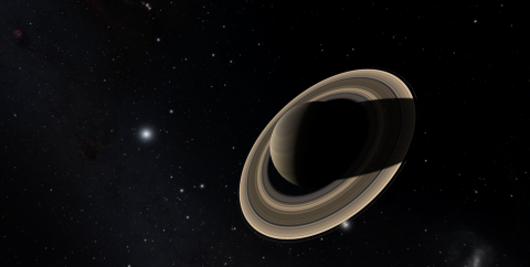 Saturn as visualized in OpenSpace