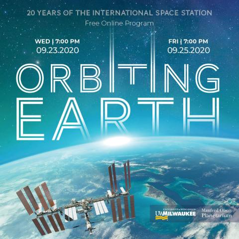 Orbiting Earth Poster