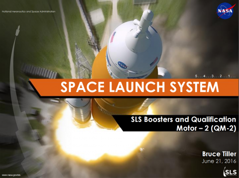 Space Launch System Update: Solid Rocket Booster