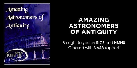 """Amazing Astronomers of Antiquity"" poster"