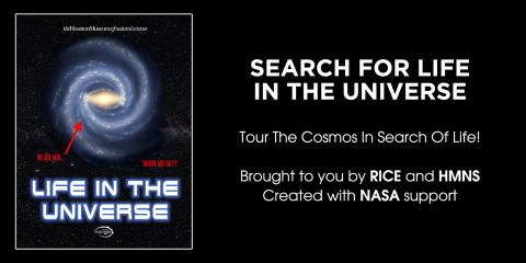 "poster for ""Search for Life in the Universe"" show"