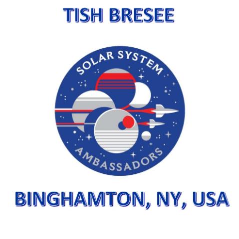 Tish is a proud member of the NASA JPL Solar System Ambassadors